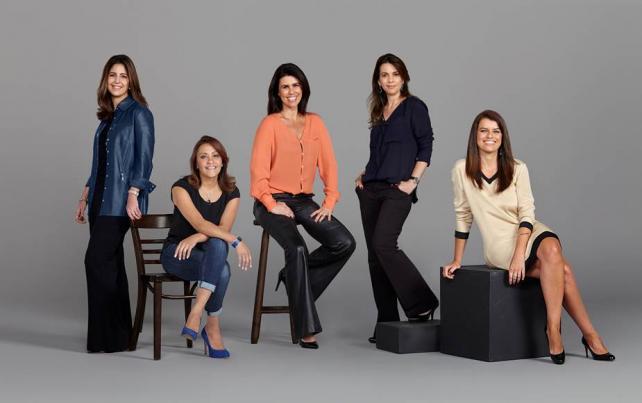 Paula Lindenberg, Martha Krawczyk, Cris Duclos, Flavia Altheman, Paula Leal da Costa