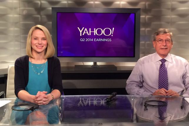 Yahoo CEO Marissa Mayer and CFO Ken Goldman