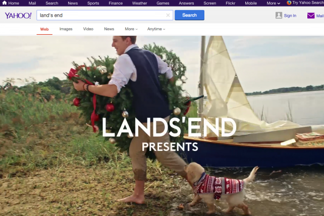 Yahoo is testing full-width, autoplay video ads on its search pages.