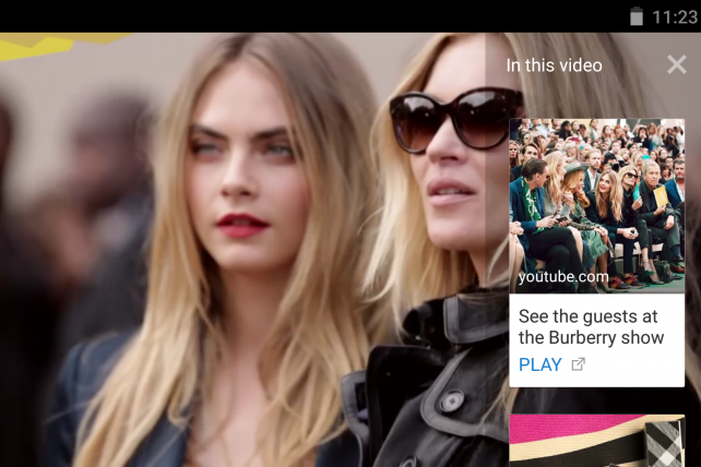 YouTube's TrueView cards will overlay extra info atop brands' video ads.