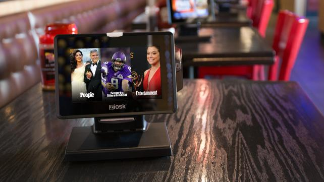 Time Inc.'s People, Sports Illustrated and Entertainment Weekly Will Be Syndicated Through Ziosk's Tableside Tablet.