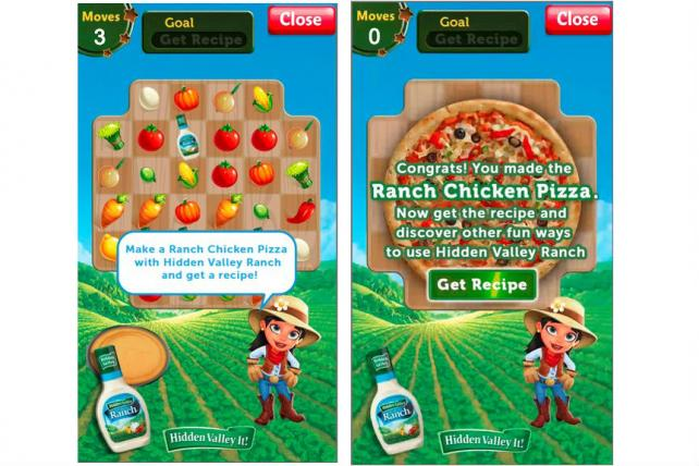 Clorox tested Zynga's in-game ad format Sponsored Play for its Hidden Valley Ranch brand.