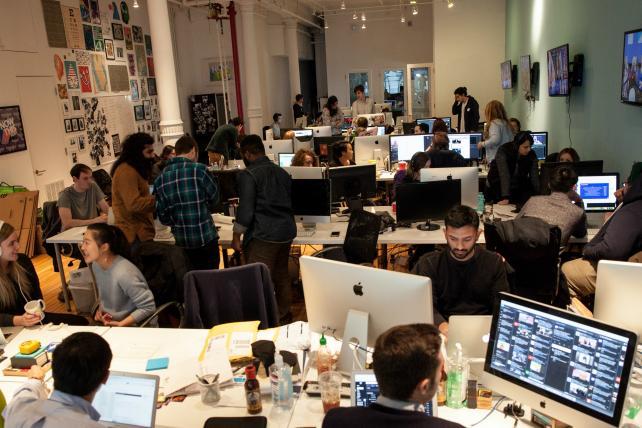 The NowThis newsroom.