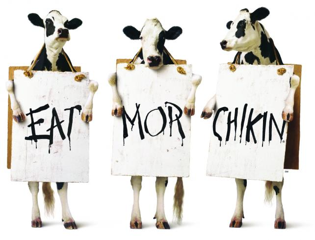 Chick-fil-A's 'Eat Mor Chikin'
