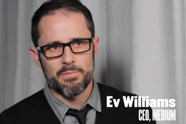 Video: Ev Williams on Why Medium Is Working With Publishers