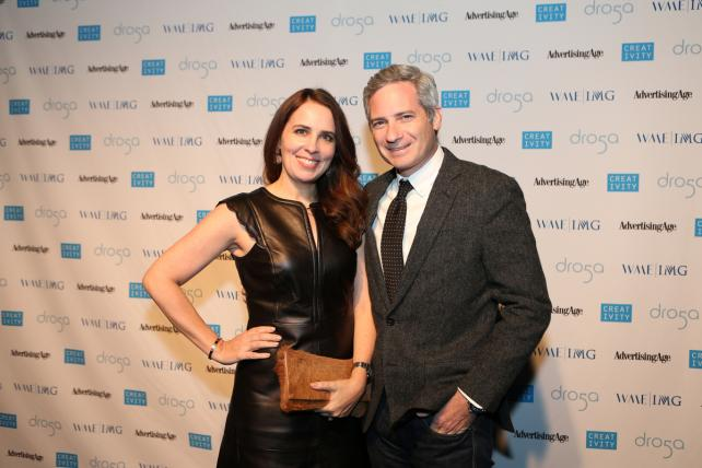 Carola Delmarle and spouse/C50 Recipient Seth Farbman, Former CMO, The Gap