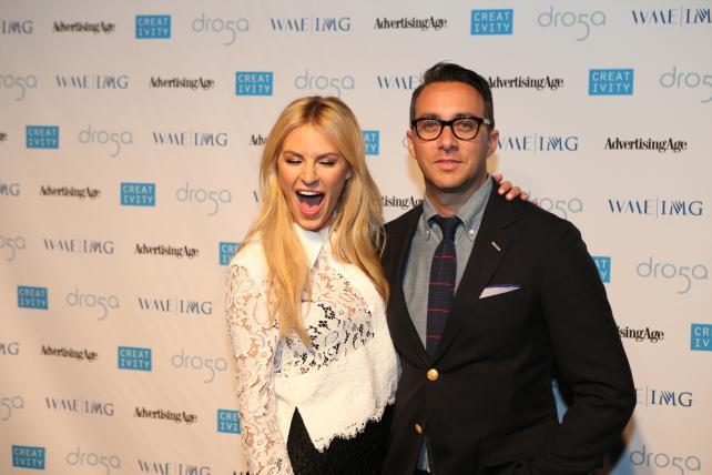 Blogger Morgan Stewart and Esquire and E! Entertainment's Adam Stotsky