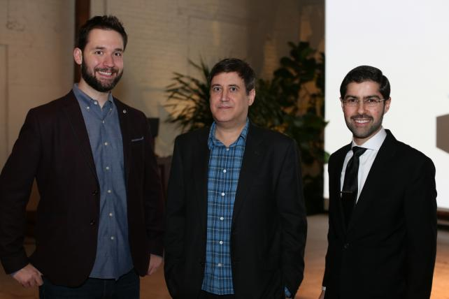From left: Reddit's Zubair Jandali, Ad Age Editorial Director Simon Dumenco and Reddit co-founder Alexis Ohanian