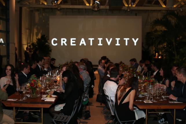 The Creativity 50 Dinner Scene