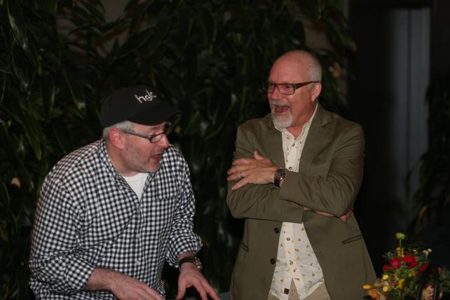 C50s dish -- Hello founder Craig Dubitsky and 72andSunny's John Boiler