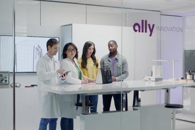 A recent Ally Financial commercial.