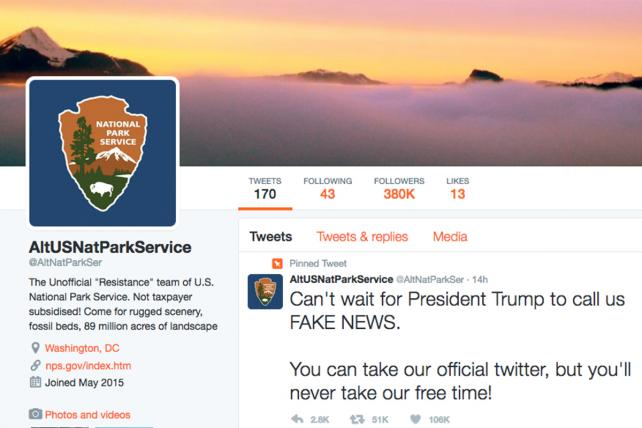 National Park Service Workers Defy Trump on Twitter