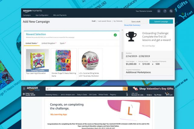 Amazon Moments is an automated platform for developers to manage their campaigns.