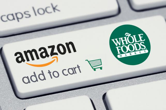 Amazon invades real-world grocery aisles with planned $13.7 billion Whole Foods acquisition.