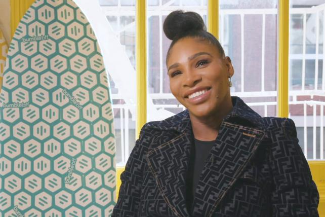 A behind the scenes look at Bumble's first ever Super Bowl spot featuring Serena Williams
