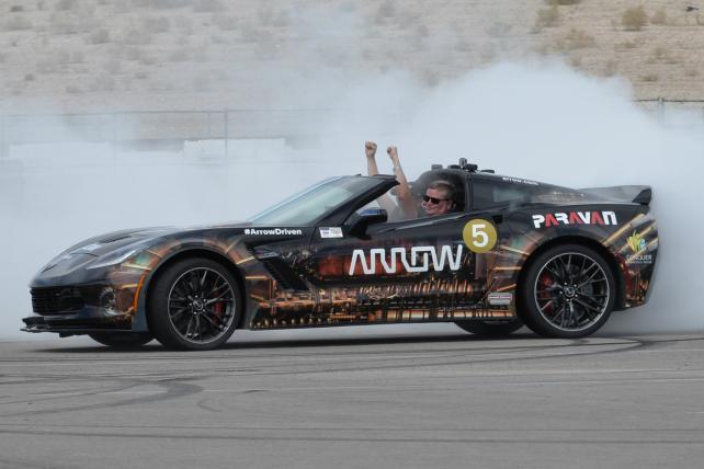Arrow Electronics built a car that racer Sam Schmidt could drive as a quadriplegic: the S.A.M. car. S.A.M. stands for 'semi-autonomous motorcar.'