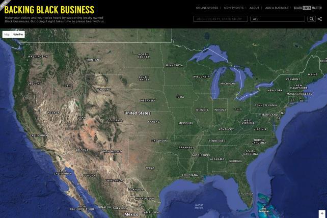 Backing Black Business website