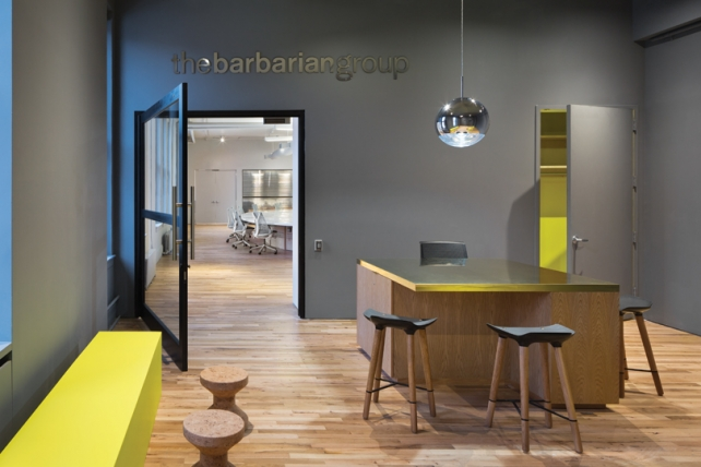 Barbarian Group's office.