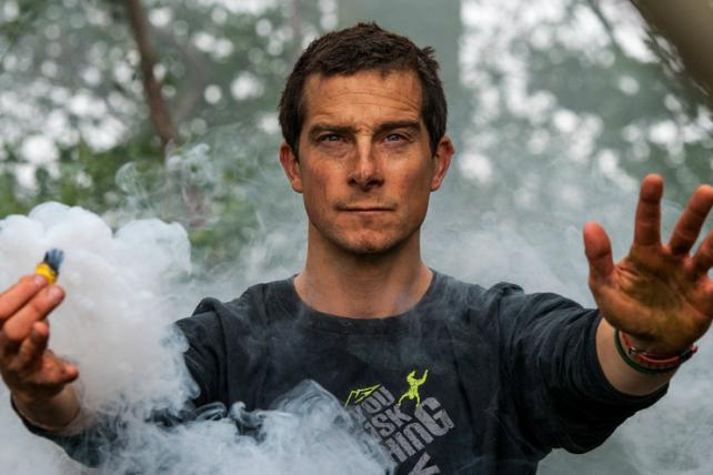 Bear Grylls, soon to be joined in the wilderness by President Obama.