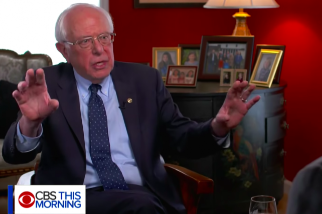 Watch Bernie Sanders trash Howard Schultz as a know-nothing billionaire who can afford a lot of TV ads