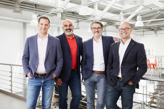 (From l.) Crossmedia's Martin Albrecht, Kamran Asghar, Markus Biermann and Tony Williams