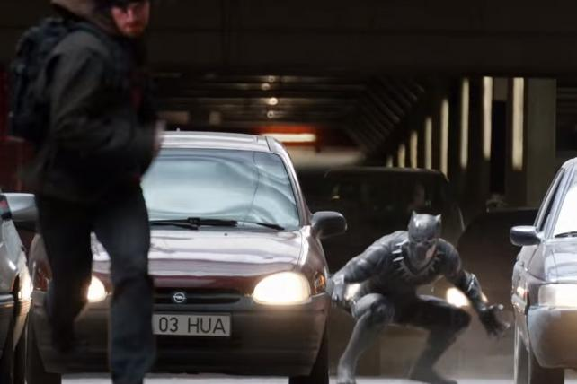 Captain America and the Black Panther Help Audi Go Viral With a High-Speed Chase