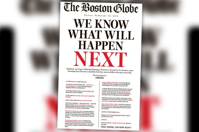 After the Florida School Shooting, The Boston Globe Says 'We Know What Will Happen Next'