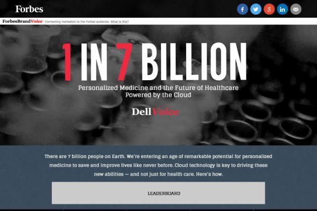 Dell's BrandVoice campaign.