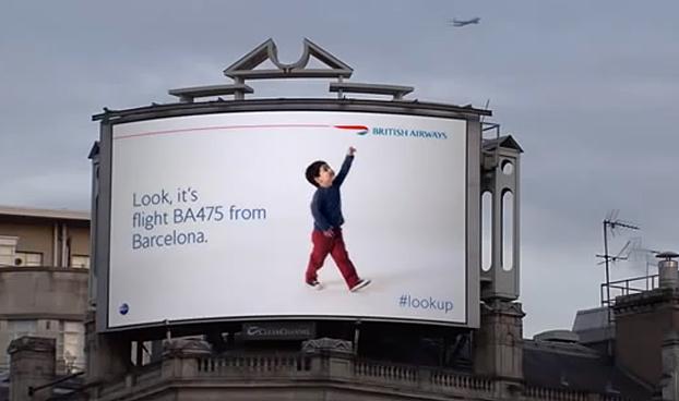 British Airways: Look Up Billboards