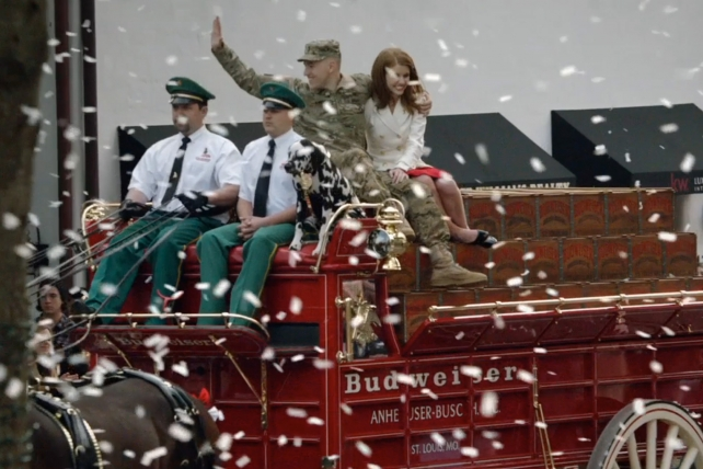 Budweiser's minute-long 'Hero's Welcome' in 2014. More 60-second ads are coming on Super Bowl Sunday.