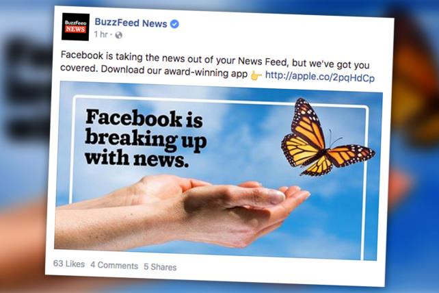 BuzzFeed bought this Facebook ad on Friday.