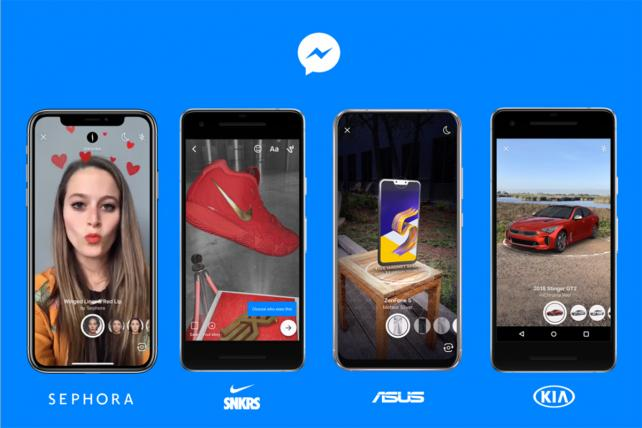 Brands including Sephora, Nike, Asus and Kia have tried AR shopping on Messenger.