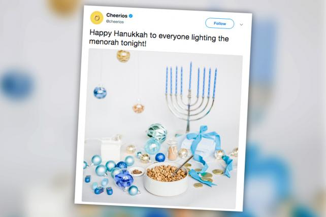 Marketer's Brief: Cheerios Menorah Tweet Misses Mark