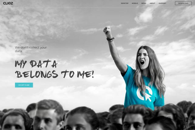 Cliqz homepage