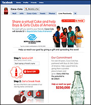 Coke Ties Facebook Charity Promotion to Super Bowl Ads
