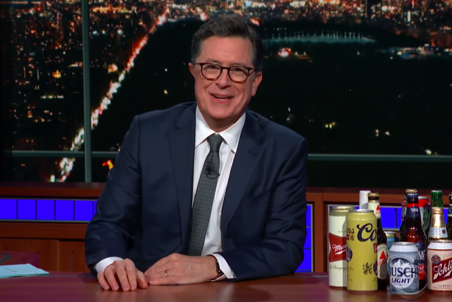 Watch Colbert explain the government shutdown with beer