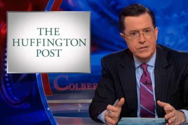 Watch Stephen Colbert's Hilarious, Harsh Take-Down of Huffington Post 'Journalism'