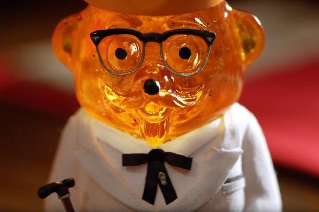 Yes, the newest KFC colonel is sort of an animal. No, it's not a chicken