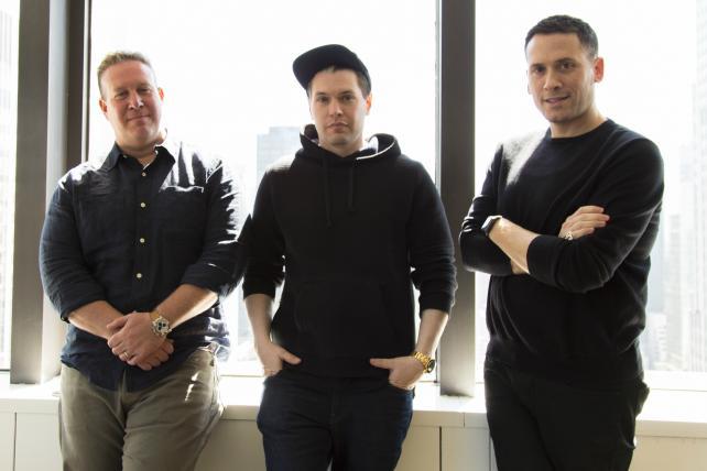 Complex Media executives Rich Antoniello, Noah Callahan-Bever, and Marc Ecko.