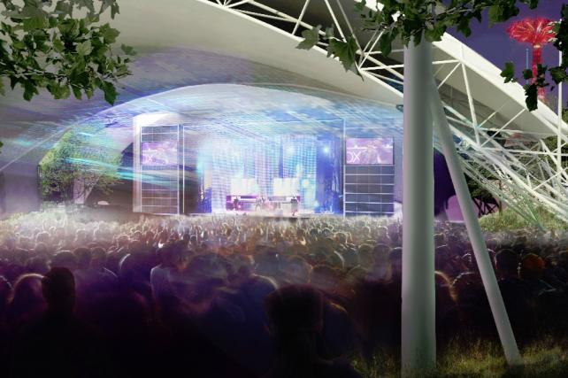 A rendering of the new amphitheater at Coney Island, scheduled to open next month.
