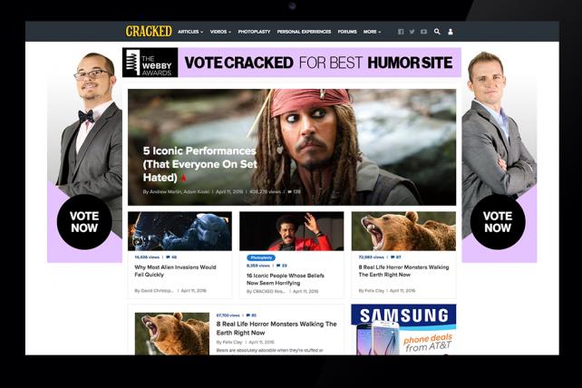 Cracked.com's homepage