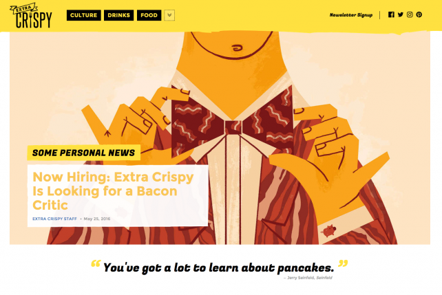 Time Inc.'s Foundry unit created Extra Crispy to focus on breakfast.