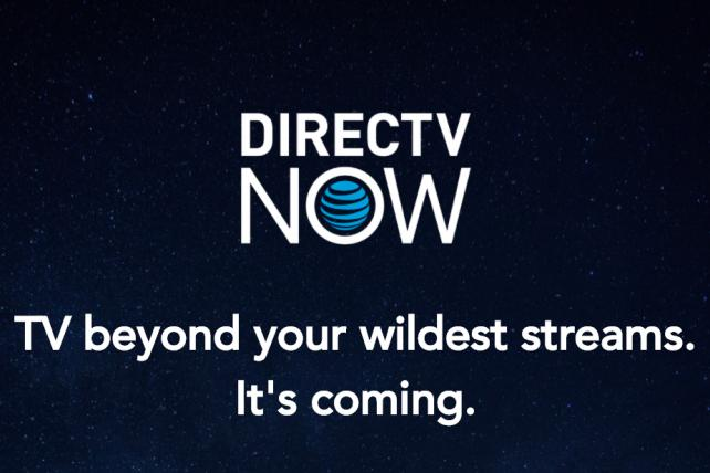 A promotional page for AT&T's new streaming TV service.