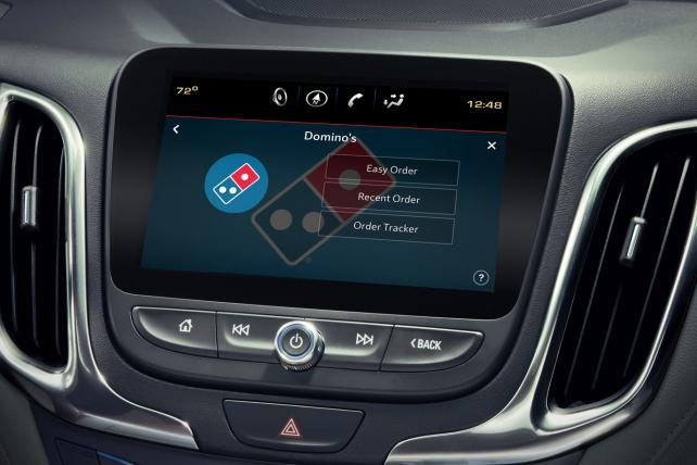 Domino's adds in-car ordering via touchscreen