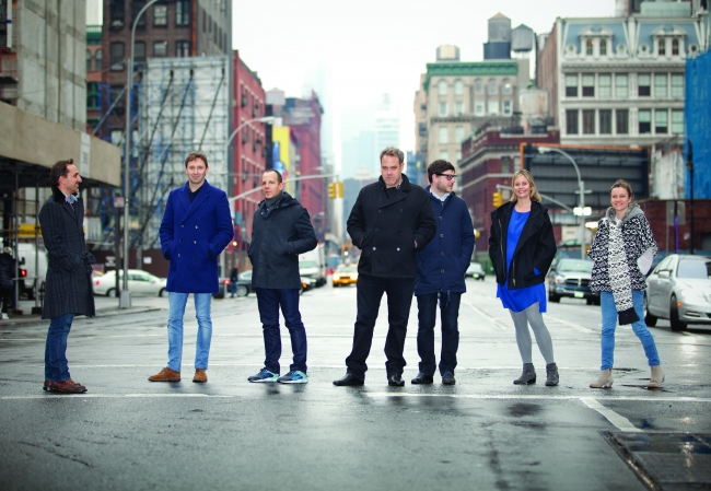 From left: David Droga, founder and creative chairman; Nik Studzinski, execute creative director; Andrew Essex, CEO; Ted Royer, executive creative director; Jonny Bauer, head of strategy; Sarah Thompson, president; Sally-Ann Dale, head of integrated production