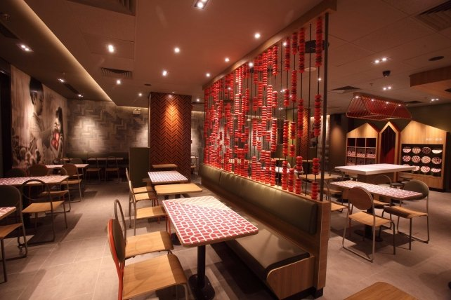 The new Chinese-themed concept restaurant in Guangzhou.