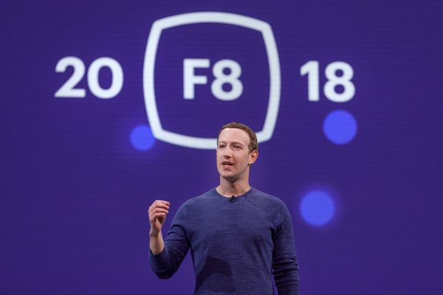 Mark Zuckerberg delivers his annual keynote at F8 on Tuesday.