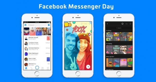 A snapshot of Facebook's Messenger Day