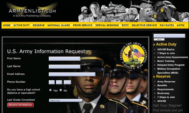 The FTC shuts down imposter military websites