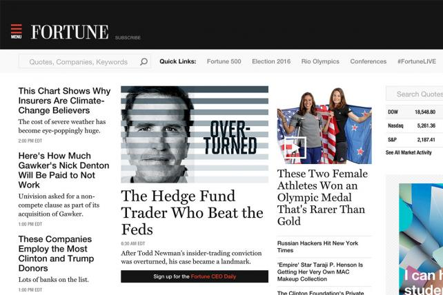 Fortune.com and other Time Inc. sites are adopting header bidding wrappers to help expand and manage their programmatic advertising.